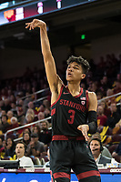 Los Angeles, CA - January 18, 2020.  The Stanford Cardinal men's basketball team lost to USC in overtime, 82-78.
