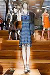 Blue Maloney dress shown at the Catherine Martin and Muccia Prada Dress Gatsby display at Prada store in SOHO, NYC May 4, 2013.