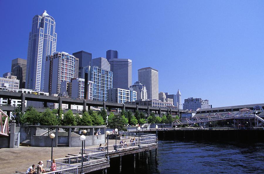 Seattle skyline from waterfront, Seattle, Washington