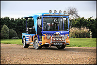 BNPS.co.uk (01202 558833)<br /> Pic:  Historics/BNPS<br /> <br /> Full Cream Ahead...You'll need a lotta bottle to drive this float.<br /> <br /> Benny Hill may have claimed that Ernie drove the fastest milk cart in the west, but the real-life record holder has now emerged for sale at auction.<br /> <br /> In his 1971 hit 'Ernie (The Fastest Milkman in the West)' Hill claimed the humble delivery man had the quickest float around, which he used to attract the attention of Sue, a local widow.<br /> <br /> Now however Ernie's horse drawn cart has been blown out of the water by a V8 monster capable of over 80mph.