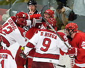 Brendan Rempel (Harvard - 42), Rodger Craig (Cornell - 15), Danny Biega (Harvard - 9), Dan Nicholls (Cornell - 29) - The visiting Cornell University Big Red defeated the Harvard University Crimson 2-1 on Saturday, January 29, 2011, at Bright Hockey Center in Cambridge, Massachusetts.