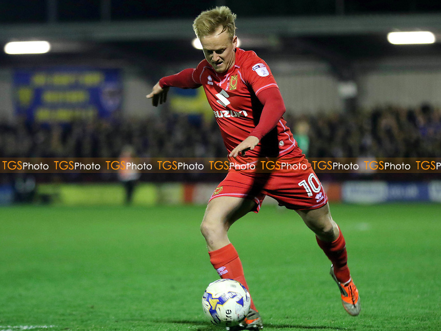 Ben Reeves of MK Dons in action during AFC Wimbledon vs MK Dons, Sky Bet EFL League 1 Football at the Cherry Red Records Stadium on 14th March 2017