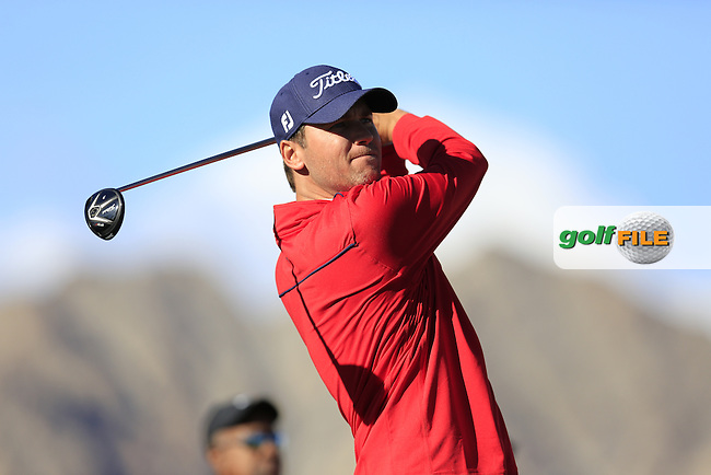 Sean O'Hair (USA) tees off the 1st tee during Saturday's Round 3 of the 2017 CareerBuilder Challenge held at PGA West, La Quinta, Palm Springs, California, USA.<br /> 21st January 2017.<br /> Picture: Eoin Clarke | Golffile<br /> <br /> <br /> All photos usage must carry mandatory copyright credit (&copy; Golffile | Eoin Clarke)