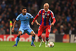 Gael Clichy of Manchester City and Arjen Robben of Munich - Manchester City vs. Bayern Munich - UEFA Champion's League - Etihad Stadium - Manchester - 25/11/2014 Pic Philip Oldham/Sportimage