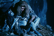 "Toronto area, Canada.1981. 80,000 years ago, the tribe who posessed fire, posessed life. A primitive tribe try to keep a natural fire source for survival.  This part of the movie was filmed in Canada.  ""Quest for Fire"" (La guerre du feu) by French director Jean-Jacques Annaud, and based on the novel of JH Rosny. Love scene under the moon light."