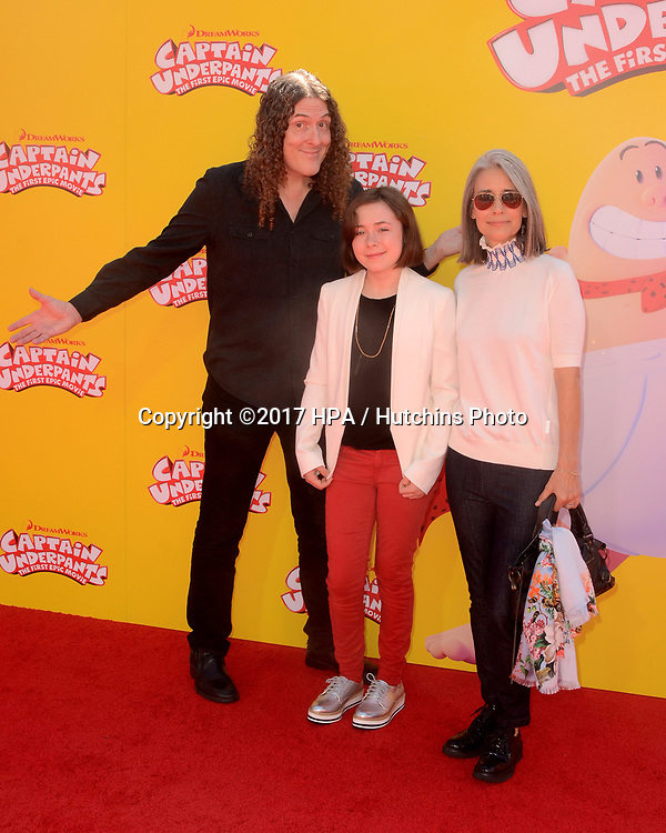 "LOS ANGELES - MAY 21:  Al Yankovic at the ""Captain Underpants"" Los Angeles Premiere at the Village Theater on May 21, 2017 in Westwood, CA"