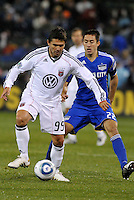 Jaime Moreno...Kansas City Wizards defeated D.C Utd 4-0 in their home opener at Community America Ballpark, Kansas City, Kansas.