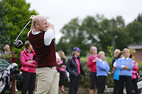 Johnny Watt (Malone) during the final  of the Ulster Mixed Foursomes at Killymoon Golf Club, Belfast, Northern Ireland. 26/08/2017<br /> Picture: Fran Caffrey / Golffile<br /> <br /> All photo usage must carry mandatory copyright credit (&copy; Golffile | Fran Caffrey)