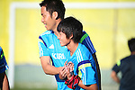 (L-R) Maya Yoshida, Daisuke Sakai (JPN), JUNE 12, 2014 - Football / Soccer : Japan's national soccer team training session at Japan's team base camp in Itu Brazil. (Photo by Kenzaburo Matsuoka/AFLO)