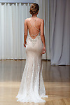 Model walks runway in a Bristol gown from the Beloved Bridal collection at the Casablanca Bridal 20th anniversary celebration runway show, on October 8, 2017; during New York Bridal Fashion Week Spring 2018.