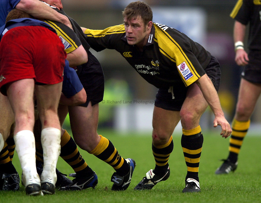 Photo. Richard Lane. .London Wasps v Stade Francais. Parker Pen Challenge Cup. 12/01/2003.Paul Volley