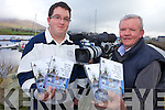 ON FILM: Tony and Christy Riordan of CR Videos in Cahersiveen, who have produced a DVD of the recent 50th anniversary celebrations at Waterville Church.