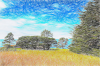 Sketch (photosketch) - Condominium One at The Sea Ranch