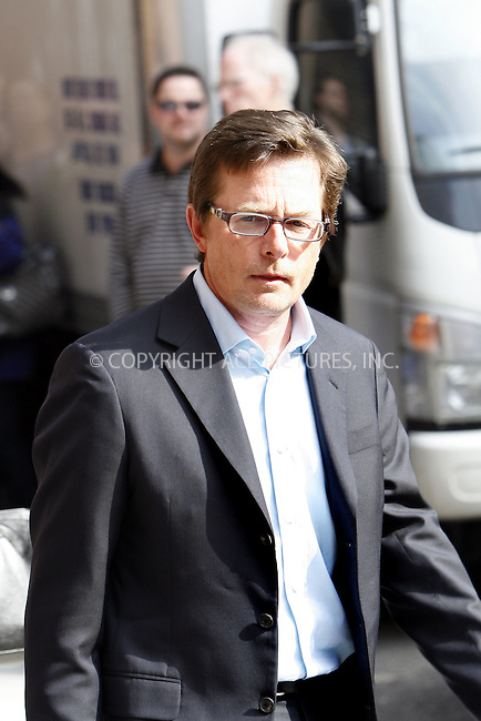 WWW.ACEPIXS.COM................March 2009, New York City....Actor Michael J Fox made an appearance at the 'Late Show with David Letterman' on April 2 2009 in New York City....Please byline:NANCY RIVERA-ACEPIXS.COM..  ***  ..Ace Pictures, Inc:  ..tel: (646) 769 0430..e-mail: info@acepixs.com..web: http://www.acepixs.com