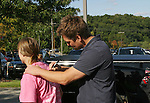 Guiding Light's actor Daniel Cosgrove signs fan's shirt on October 1, 2009 in Pittsburgh, PA area as the actors visit Moon Township Honda after going to the various GO PINK Panera Bread locations. Proceeds from pink ribbon bagel sales will benefit the Young Women's Breast Cancer Awareness Foundation. (Photo by Sue Coflin/Max Photos)