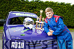 12 year old Mossie Costello won the U13 Rookie Category  in the John McGann Memorial Perpetual Shield for Hot Rod at Eastcork Hotrod, Midleton Co. Cork, last Sunday