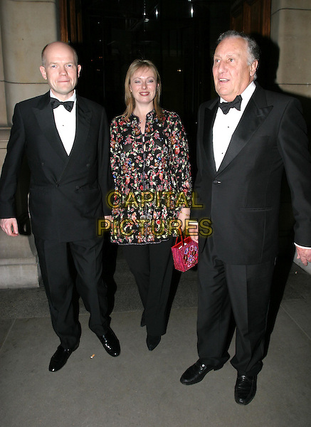 WILLIAM & FFION HAGUE.Cirque Du Soleil charity performance at the Royal Albert Hall and aftershow dinner at the V&A Museum.5 February 2004.full length, full-length .www.capitalpictures.com.sales@capitalpictures.com.© Capital Pictures.