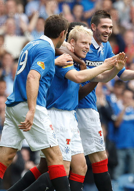 Rangers goalscorer Steven Naismith celebrates after scoring