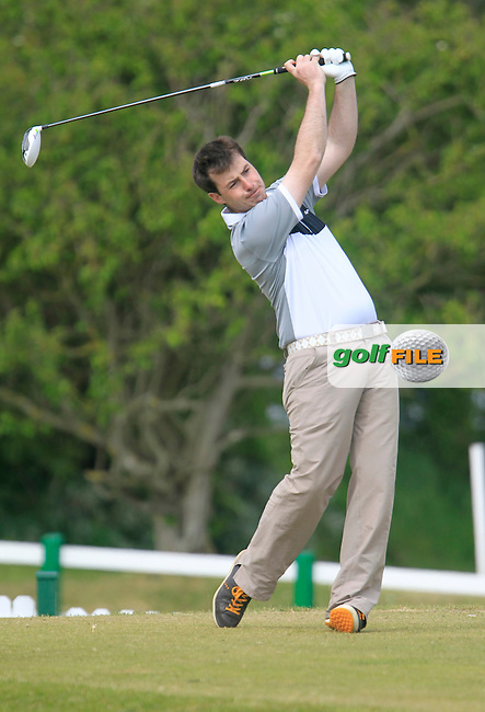 Desmond Morgan (Mullingar) on the 1st tee during the 3rd round of the East of Ireland Amateur Open Championship 2013 Co Louth Golf club 3/6/13<br /> Picture:  Thos Caffrey / www.golffile.ie
