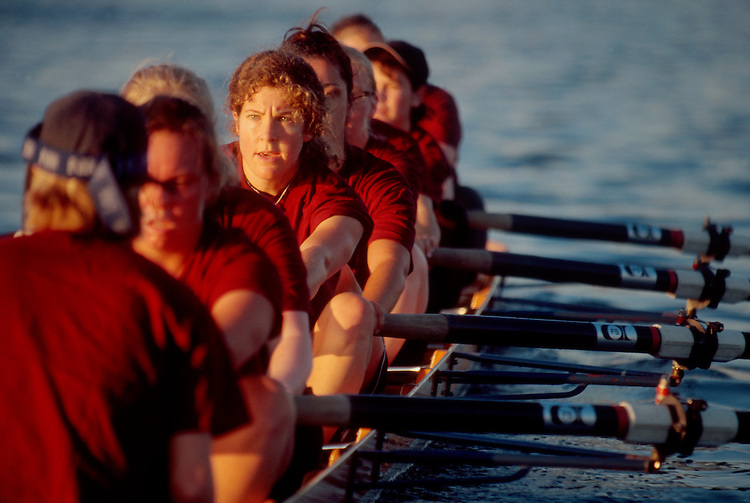 Rowing, Women's eight, Athletic intensity, women masters rowing, Seattle, Lake Washington Rowing Club,