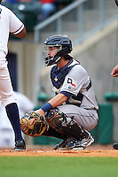 San Antonio Missions catcher Jason Hagerty (22) during a game against the NW Arkansas Naturals on May 30, 2015 at Arvest Ballpark in Springdale, Arkansas.  San Antonio defeated NW Arkansas 5-1.  (Mike Janes/Four Seam Images)