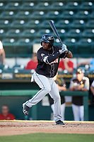 Jupiter Hammerheads center fielder Anfernee Seymour (26) at bat during the second game of a doubleheader against the Bradenton Marauders on May 27, 2018 at LECOM Park in Bradenton, Florida.  Jupiter defeated Bradenton 4-1.  (Mike Janes/Four Seam Images)