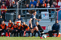 Sky Blue FC forward Kelley O'Hara (19). Sky Blue FC defeated the Western New York Flash 1-0 during a National Women's Soccer League (NWSL) match at Yurcak Field in Piscataway, NJ, on April 14, 2013.