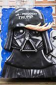 Düsseldorf, Germany. 27 February 2017. Donald Trump as Darth Vader. Carnival parade on Shrove Monday (Rosenmontag) in Düsseldorf, North Rhine-Westphalia, Germany.