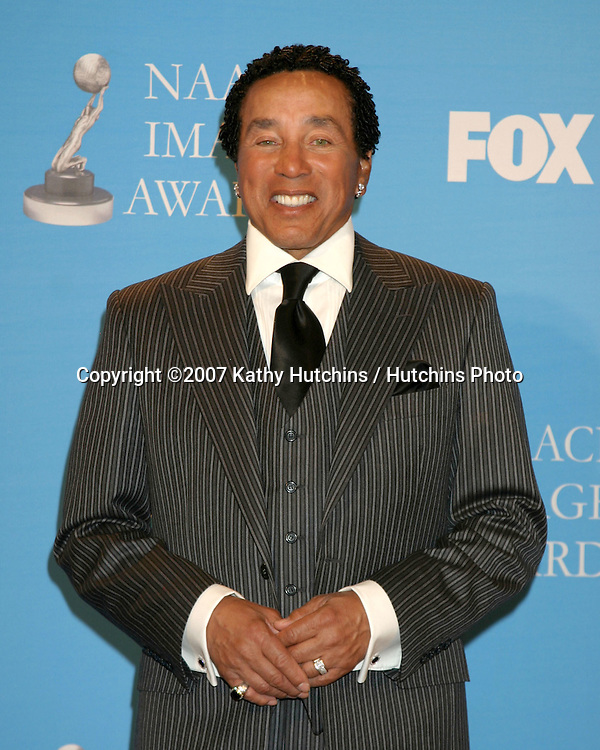 Smokey Robinson.NAACP Image Awards.Shrine Auditorium.Los Angeles, CA.March 2, 2007.©2007 Kathy Hutchins / Hutchins Photo...