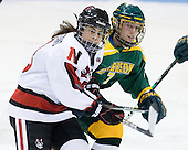 Claire Santostefano (Northeastern - 13), Gabrielle Kosziwka (Clarkson - 7) - The Northeastern University Huskies defeated the visiting Clarkson University Golden Knights 5-2 on Thursday, January 5, 2012, at Matthews Arena in Boston, Massachusetts.
