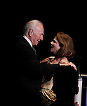 Tovah Feldshuh (All My Children, Ryans Hope, As The World Turns) presented the Lifetime Achievement Award to Christopher Plummer - 70th Annual Theatre World Awards on June 2, 2014 at Circle on the Square, New York City, New York (Photo by Sue Coflin/Max Photos)