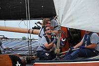 ZEILEN: LANGWEER: Langwarder Wielen, 24-07-2014, SKS skûtsjesilen, ©foto Martin de Jong