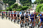 The peloton in action during Stage 6 of the 2018 Tour de France running 181km from Brest to Mur-de-Bretagne Guerledan, France. 12th July 2018. <br /> Picture: ASO/Alex Broadway | Cyclefile<br /> All photos usage must carry mandatory copyright credit (&copy; Cyclefile | ASO/Alex Broadway)