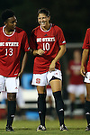 04 September 2015: NC State's Jackie Stengel. The North Carolina State University Wolfpack hosted the Oregon University Ducks at Dail Soccer Field in Raleigh, NC in a 2015 NCAA Division I Women's Soccer game. NC State won the game 2-0.