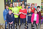 Presenting ?2,200 to children who attend the Shannow Family Resource Centre were members of the Kerry Crusaders. Pictured were: Jason O'Brien, Gordon Flannery, Danny Tobin, William 'Fozzy' Forristal, George O'Grady, Cathy O'Sullivan, Laura Dineen, JP O'Brien, Martina McElligott, Eoin O'Su;;ivan and Paul Beirne.