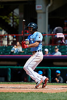Erie SeaWolves Derek Hill (11) at bat during an Eastern League game against the Akron RubberDucks on June 2, 2019 at UPMC Park in Erie, Pennsylvania.  Erie defeated Akron 8-5 in eleven innings in the second game of a doubleheader.  (Mike Janes/Four Seam Images)