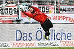 09.11.2019, Stadion an der Bremer Brücke, Osnabrück, GER, 2. FBL, VfL Osnabrueck vs. VfB Stuttgart<br /> <br /> ,DFL REGULATIONS PROHIBIT ANY USE OF PHOTOGRAPHS AS IMAGE SEQUENCES AND/OR QUASI-VIDEO, <br />   <br /> im Bild<br /> Torhueter Gregor Kobel (VfB Stuttgart #1), Aktion / Einzelbild / Freisteller / mit Ball<br /> <br /> <br /> Foto © nordphoto / Paetzel