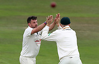 Steven Mullaney of Nottinghamshire celebrates taking the wicket of Ravi Bopara during Nottinghamshire CCC vs Essex CCC, Specsavers County Championship Division 1 Cricket at Trent Bridge on 10th September 2018