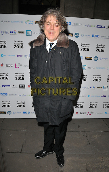 Alan Davies attends the Broadcast Awards 2016, Grosvenor House Hotel, Park Lane, London, UK, on Wednesday 10 February 2016.<br /> CAP/CAN<br /> &copy;Can Nguyen/Capital Pictures