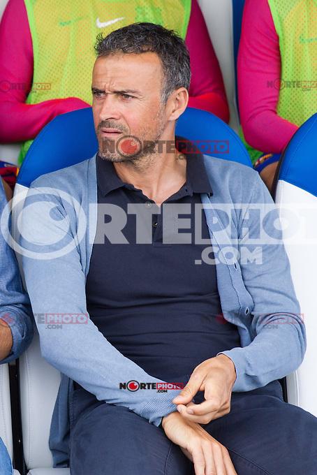 FC Barcelona's coach Luis Enrique Martinez during the match of La Liga between Club Deportivo Leganes and Futbol Club Barcelona at Butarque Estadium in Leganes. September 17, 2016. (ALTERPHOTOS/Rodrigo Jimenez) /NORTEPHOTO