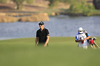 Matt Wallace (ENG) on the 18th fairway during the final round of the DP World Tour Championship, Jumeirah Golf Estates, Dubai, United Arab Emirates. 18/11/2018<br /> Picture: Golffile | Fran Caffrey<br /> <br /> <br /> All photo usage must carry mandatory copyright credit (© Golffile | Fran Caffrey)