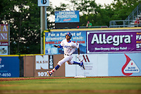 Byron Buxton (7) of the Chattanooga Lookouts runs during a game between the Jackson Generals and Chattanooga Lookouts at AT&T Field on May 7, 2015 in Chattanooga, Tennessee. (Brace Hemmelgarn/Four Seam Images)
