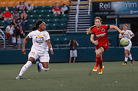 Rochester, NY - Friday June 17, 2016: Western New York Flash defender Taylor Smith (11), Portland Thorns FC forward Mallory Weber (26) during a regular season National Women's Soccer League (NWSL) match between the Western New York Flash and the Portland Thorns FC at Rochester Rhinos Stadium.