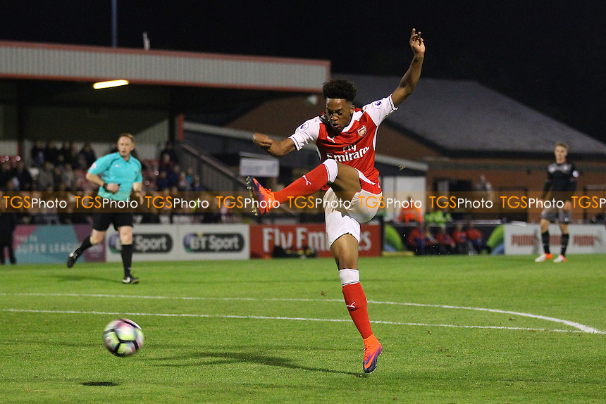 Chris Willock of Arsenal goes close to a goal during Arsenal Under-23 vs Southampton Under-23, Premier League 2 Football at Meadow Park on 14th October 2016