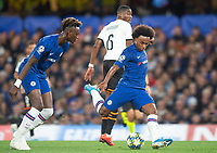 Chelsea's Tammy Abraham and Chelsea's William during the UEFA Champions League match between Chelsea and Valencia  at Stamford Bridge, London, England on 17 September 2019. Photo by Andrew Aleksiejczuk / PRiME Media Images.