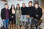 The staff of Benners Hotel enjoying their Christmas party in Bella Bia on Sunday night.<br /> L to r: Adam Barrett, Amanda Lochnane, Chloe Walsh, Gerry Michailes, Danny Cournane and James Moriarty.