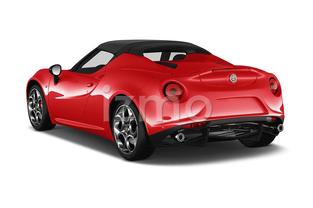 Car pictures of rear three quarter view of 2018 Alfaromeo 4C - 2 Door Convertible Angular Rear
