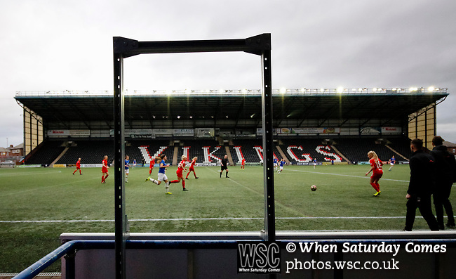 Liverpool Ladies 2 Everton Ladies 1, 19/03/2017. Select Security Stadium, SSE FA Cup Fifth Round. Extra time in the game between Liverpool Ladies v Everton Ladies at The Select Security Stadium, Widnes, in the Women's SSE FA Cup Fifth Round. Photo by Paul Thompson.