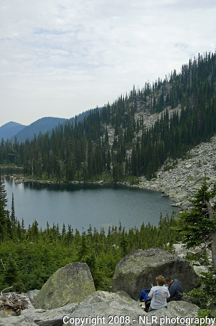 Pyramid Lake - wilderness lake in northern Idaho in the Selkirk Mountains off of Trout Creek Rd & Pyramid Ball Lakes Trail #43