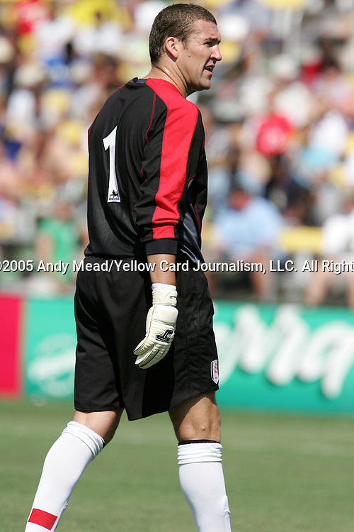 30 July 2005: Mark Crossley. Major League Soccer's All-Stars defeated Fulham FC of the English Premier League 4-1 at Columbus Crew Stadium in Columbus, Ohio in the 2005 Sierra Mist MLS All-Star Game.